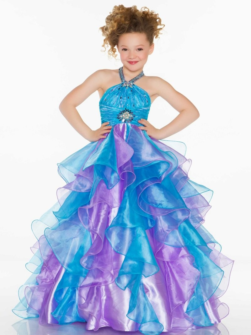 Bright red pink purple fuchsia halter flower girl dresses princess bright bluepurple organza halter beads flower girl dresses princess dresses pageantparty dress custom made mightylinksfo