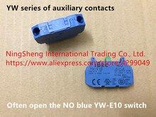 Original novo 100% YW série de contatos auxiliares muitas vezes abrir a NENHUM azul YW-E10 interruptor