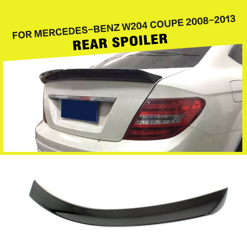 Carbon Fiber Rear Trunk Spoiler Wing Lip for Mercedes-Benz C-Class W204 C180 C200 C250 C300 C63 AMG Coupe 2008-2014Carbon Fiber Rear Trunk Spoiler Wing Lip for Mercedes-Benz C-Class W204 C180 C200 C250 C300 C63 AMG Coupe 2008-2014