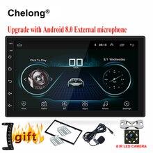 2 din Автомобильный Радио Android 8,0 Универсальный Авторадио 7 «gps android 2din автомобиль MP5 плеер gps навигация wifi Bluetooth Нет dvd плеер