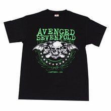 809d10b9a44 Vengado siete veces banda de Punk Rock gráfico camisetas logotipo verde