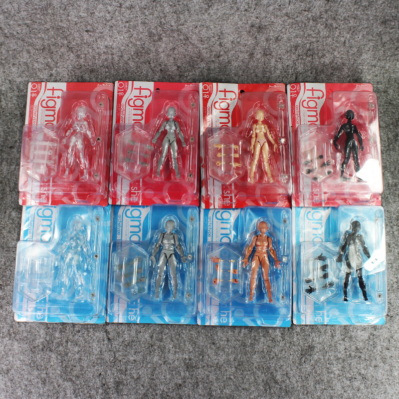 New 8Style BODY KUN Anime Brinquedos Cosplay Archetype He Archetype She Ferrite Figma Movable PVC Action Figure Model toy