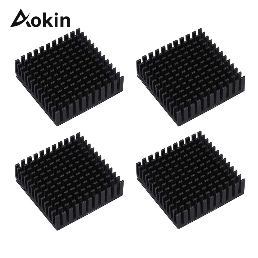 4Pcs Black Radiator Aluminum Motor Heatsink Extruded Profile Heat Dissipation Electronic Heat Sink For 42 Stepper Motor 3D Print