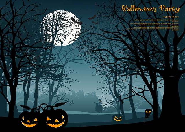 photo backdrops halloween party background vinyl for studio funny pumpkin screen backdrops trees 7x5ft or 5x3ft