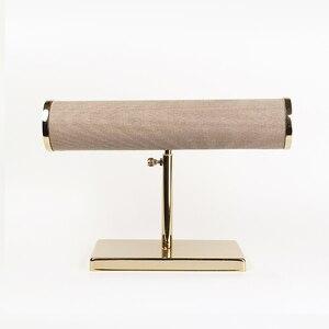 Image 2 - חדש תכשיטי ולצפות תצוגת אבזרי עם זהב תמיכה את צמידי או watchs תצוגת מדף תצוגה של צמיד ולצפות חלון