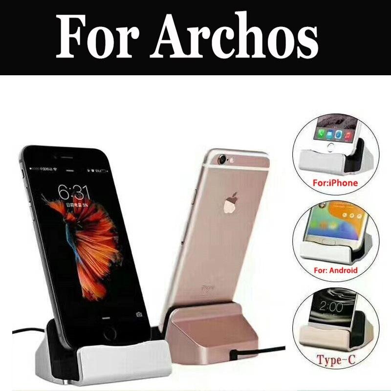 Desktop Charger Base Station Usb Type-C Cable For Archos 55 Diamond Selfie Cobalt 50 Platinum 2 Plus 50f Neon 55b 50 55 Graphite