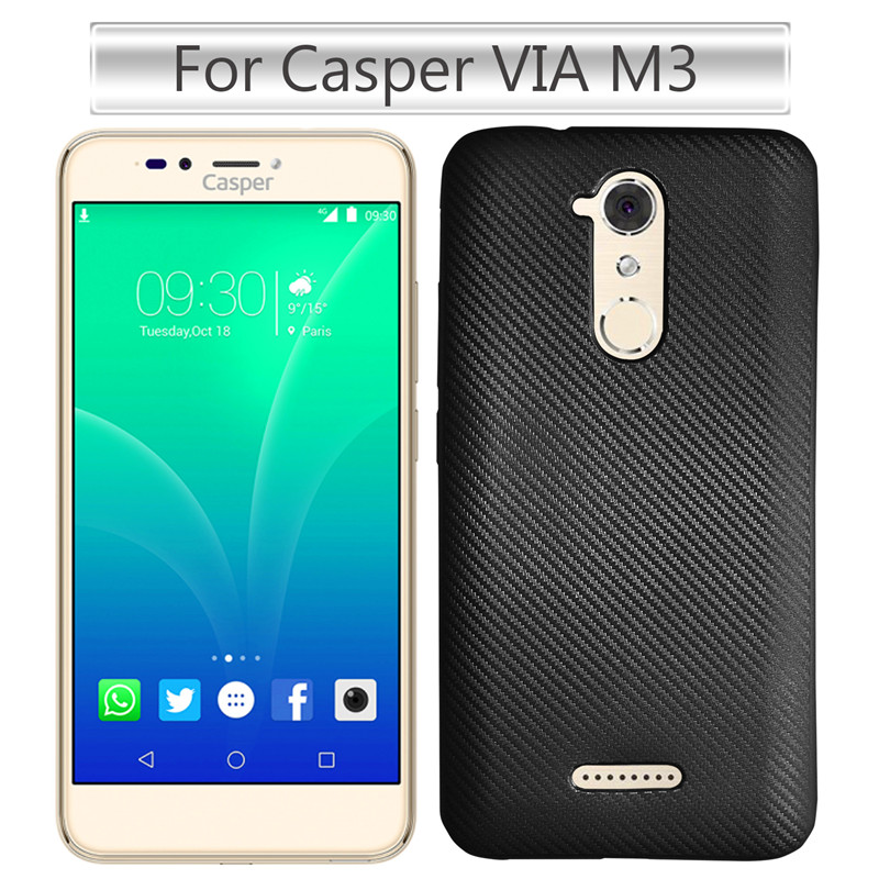 Casper VIA M3 Soft Case Colored Carbon Fiber Skin Soft Back Cover Phone Case for Casper VIA M3 Soft Phone Shell Cover 4 Color image