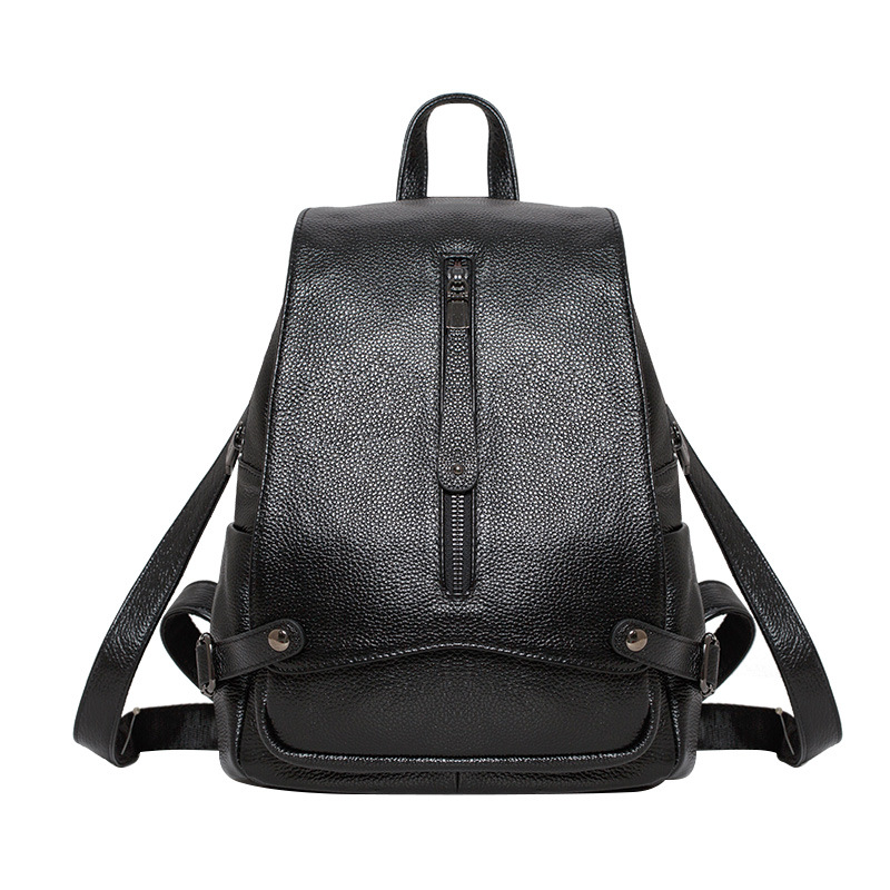 Brand Genuine leather Backpack Women Leisure fashion black blue girls leather female backpack 2018 fashion design women backpack leather star rivet black female youth satchel