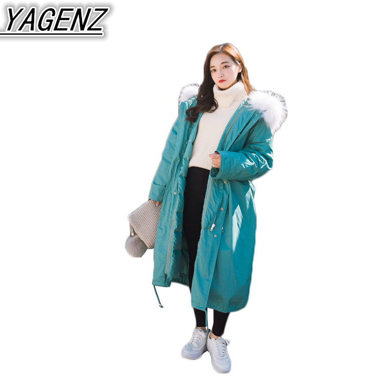 Winter Down Jackets Women's Cotton Jacket Coat 2018 New Thicken Warm Hooded Cotton-padded Coats Women High quality Cotton Jacket new obese men hooded down jacket in winter jacket coat plus size7xl8xl cotton padded clothes to keep warm and high quality coat