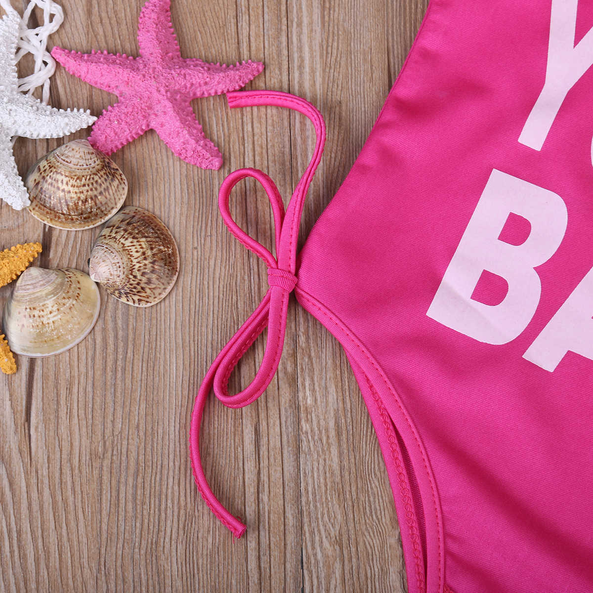 3ef5f5fda5 ... Letter Baby/Mommy One-piece Family Matching Swimsuit Women's One Piece  Swimsuit Swimwear Bathing ...