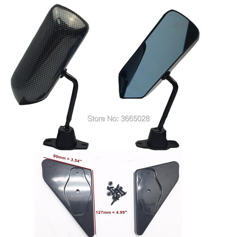 F3 Racing Side Mirror BLACK DIPPING CARBON LOOK FOR E34 E90 2002i Z3 E46 E24