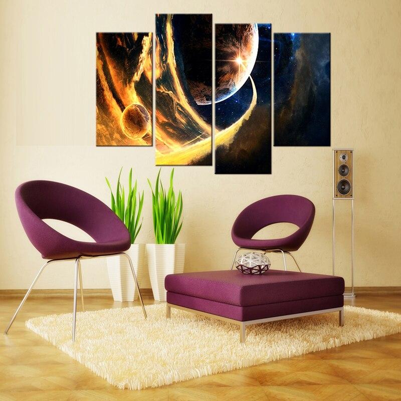 4 gab. / Komplekti modernu mājas dekorēšanas audekla attēlu - Mājas dekors