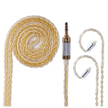 Upgraded TRN 8 Core Silver Plated Cable 3.5 0.75 0.78 MMCX Balance HIFI Earphone Cable for SE846 LZ HQ5 HQ6 HQ8 KZ V30 YINYOO CC lz 8 core 6n single crystal copper silver plated cable 2 5 3 5 4 4mm balanced cable with mmcx connector for lz a5 a4 hq8 hq10