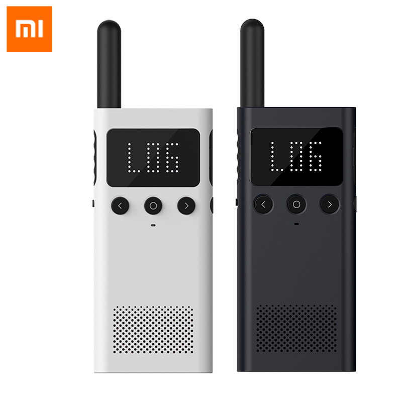 Original Xiaomi Mijia Smart Walkie Talkie 1S With FM Radio Handheld Civilian High Power Ultrathin Long Distance Outdoor Travel