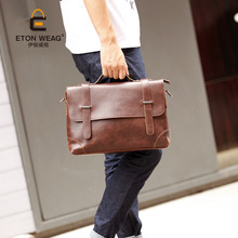 New PU leather briefcase portfolio quality men shoulder bag waxy leather laptop bag brands handbags tote bags man