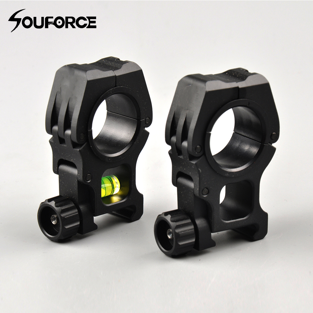 30/25.4 mm Spirit Bubble Level Mount Air Soft Gun Rifle Scope Ring Support for 20 mm Picatinny Rail Mount for Hunting