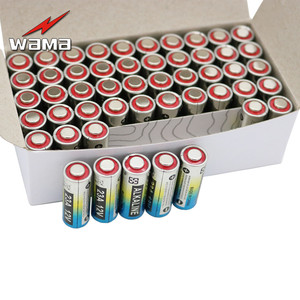 Аккумуляторные батарейки 50x Wama 23A 12 В, 21/23 23GA A23 A-23 23A LRV08 8F10R, щелочные, дистанционный дверной Звонок