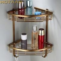 Freies Verschiffen Wand antik-finish aluminium Bad Dusche shampoo Regal Warenkorb Halter Mode Doppelschicht YT-7004