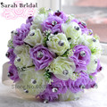 Send Flower Corsage Wrist Korean Bride Holding Creative High Simulation Rose Wedding Bouquet Bridal Bouquet Buque de Noiva WF015