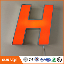 outdoor decorative led lighted letter illuminated advertising sign face lit acrylic led lighted letters