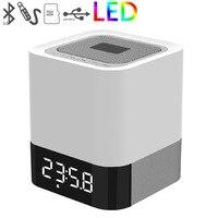 FineFun LED Bluetooth Wireless Speaker HIFI 3D Stereo Bass Klankkast Wekker Kalender TF AUX Multifunctionele Luid Speaker