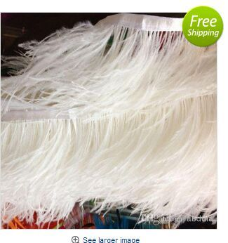 Ostrich Feather Trimming 10 meters/lot Many Colors Ostrich Feather Trimming Fringe 5-6inch in Width Ostrich Feather Fringes