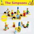 Nuevo 6 unids/lote Los Bloques Juguetes Simpsons Homer Lisa Bart Marge Maggie Ladrillos de Bloques de Construcción Figuras Juguetes Para Niños
