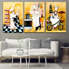 Personality Cook Oil Painting Food Wall Art Canvas Poster Bakery Restaurant Kitchen Living Room Home Decor Picture
