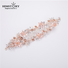 HIMSTORY European And American Bride Headpiece Double Layers Crown Headband Exquisite Handmade Bridal Wedding Hair Accessories