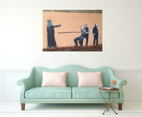 Banksy May The Police Force Be With You Canvas Painting Wall Street Art Poster Prints On