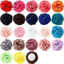 Nishine 10 шт./лот 7 см 22 цвета атласные свернутые розы цветы для Diy заколки для волос головная повязка Детский Декор для девочек аксессуары для волос