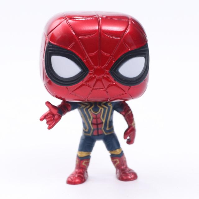 FUNKO POP Marvel Avengers 3-  Infinite War Spider-Man Groot Iron Man- Raytheon Action Figure 10cm