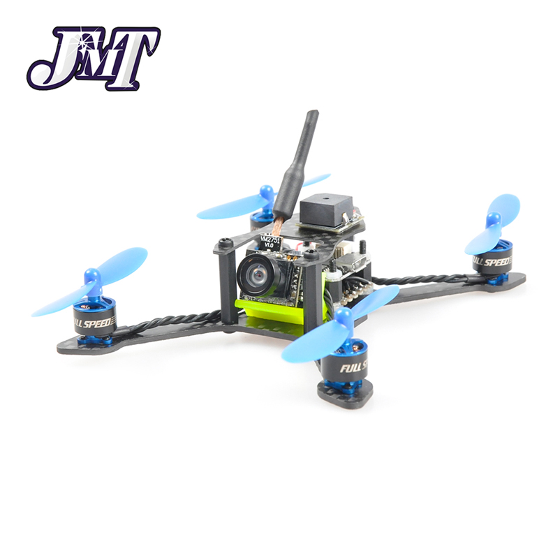 JMT Bat-100 100MM  DIY FPV Micro Brushless Racing Quadcopter Drone BNF with Frsky/Flysky/DSM-X WFLY RX Carbon Fiber Receiver jmt x180 diy bnf assembled frame kit with osd fpv hd cam frysky d8 rx battery superlight mini rc racing drone f21233 b
