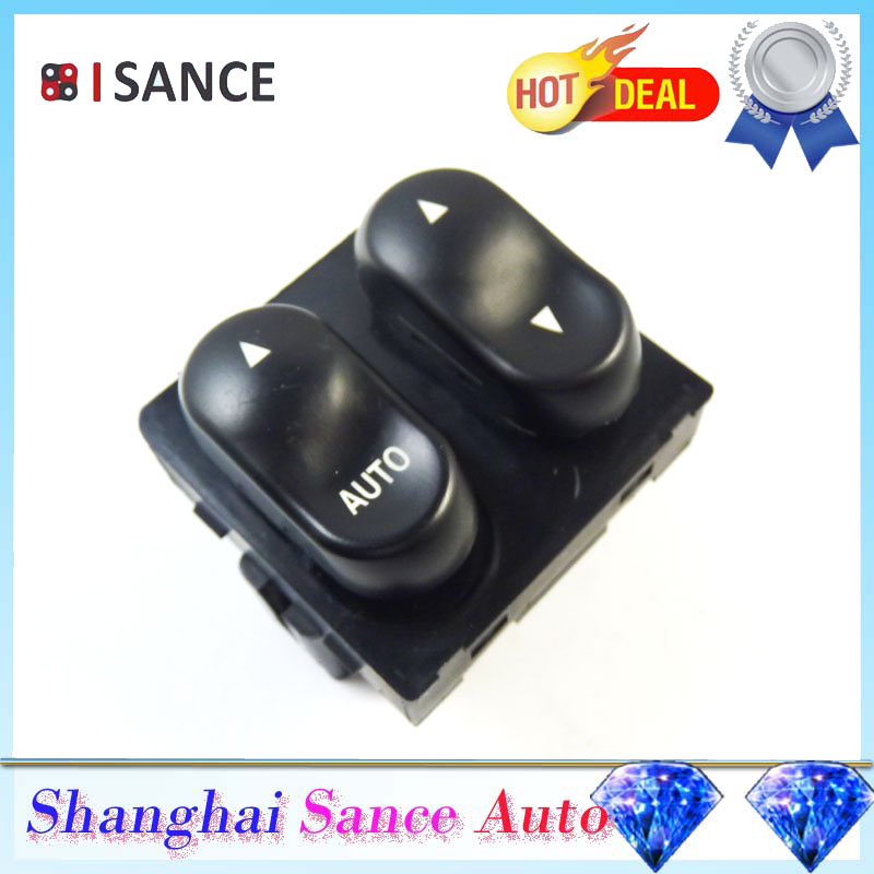 Isance left master power window switch 2 button for 2000 ford f150 power window switch