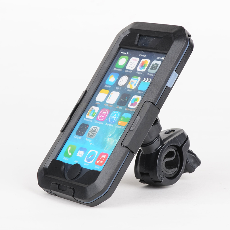 imágenes para Superior IPX8 Impermeable Del Caso Para el iphone 5 6 s 6 más Cubierta Bici de la motocicleta Deportes Manillar Titular de Montaje Para el iphone 5/6 s/6 s Plus