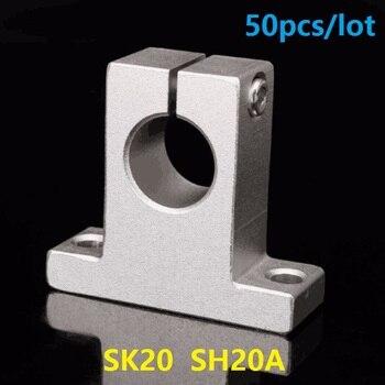50pcs/lot SK20 SH20A 20mm linear bearing rail linear shaft support bearings 3d printer