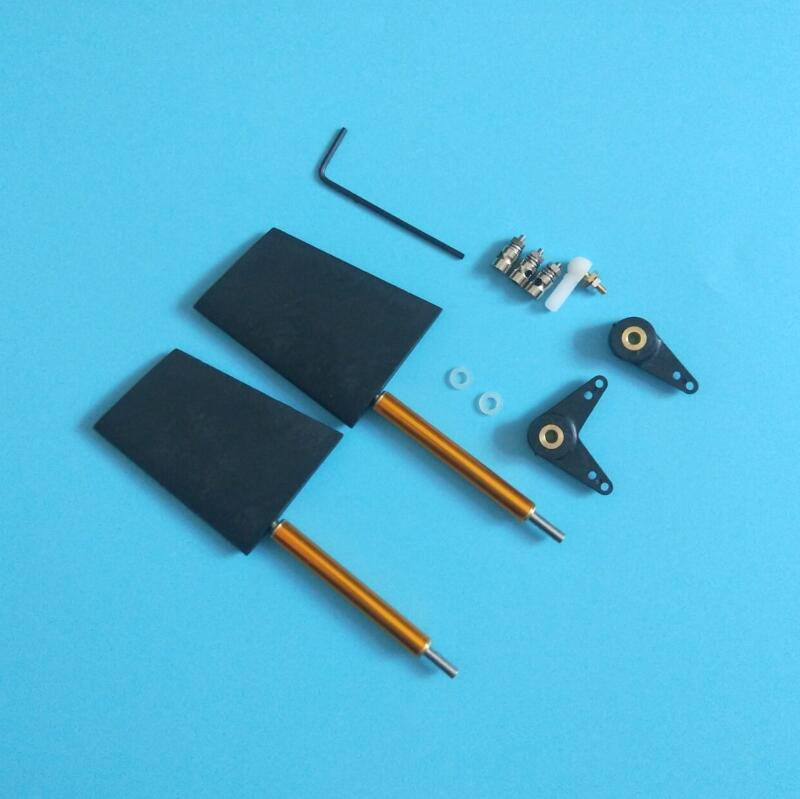 1 Set RC Boat Nylon Steering Rudder With Servo Steering Arm Rod Stopper Connector Spare Part For Feeding Boat/Deep V Yacht 110mm rudder bearer steering wheel for brushless rc electric boat catamaran boat model methanol boat steering wheel