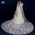 Long Wedding Veil Ivory 5 Styles Bridal Veil Long 2.5 Meters Cathedral Bridal Veils Wedding Veils Lace Cheap