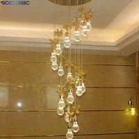 BOCHSBC Design Criativo Lustres De Cristal para Sala de estar Corredor Da Escada LEVOU Lâmpada Pendurada Interior Art Deco Luminária Lâmpadas