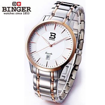 Geneva New Hot Sell Stainless Steel Strap Luxury Gold Analog WristWatch Fashion Quartz Men Watches Brand Binger Clock Watch hollow brand luxury binger wristwatch gold stainless steel casual personality trend automatic watch men orologi hot sale watches
