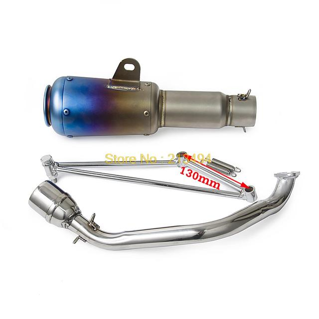Stainless Steel Exhaust Muffler System For GY6 125cc 150cc