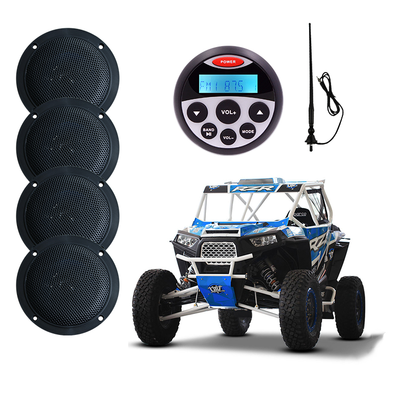 Морской аудио Системы лодка стерео Bluetooth радио FM AM MP3 плеер для мотоцикла Авто ATV 4 Водонепроницаемый Динамик Radio Antenna