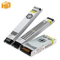 Ultra Thin LED Power Supply DC 5V / 12V / 24V Lighting Transformers 200W 300W AC190-240V Driver For LED Strips