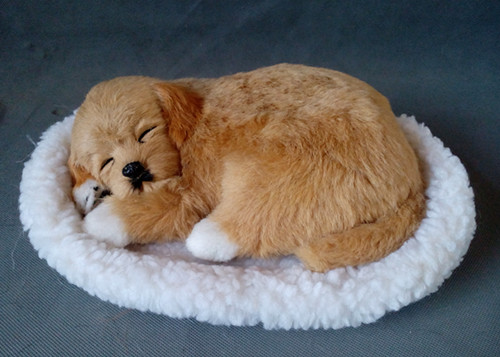 simulation sleeping dog about 23x16cm hard model,polyethylene&fur toy,home decoration doll 1741 big simulation lying dog toy polyethylene&furs shepherd dog model gift about 50x26cm 2937