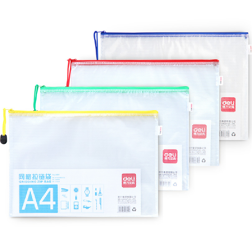 Mesh Zipper Pvc Bag Size, 5 For Choose Waterproof, Filing, Products File Folder, Storage, Color, Random