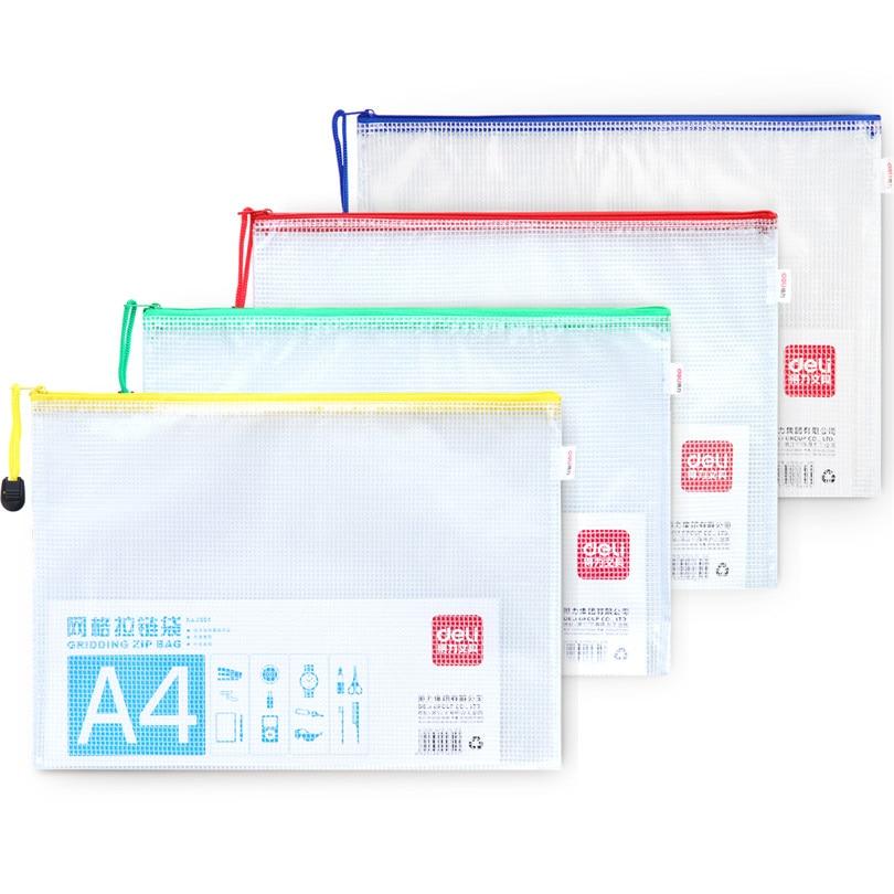 Mesh Zipper Pvc Bag Size, 5 For Choose Waterproof, Filing, Products File Folder, Storage, Color, Random
