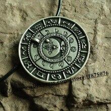 1pcs viking retro The old moon phase talisman necklace rune pendant amulet jewelry