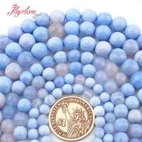 8,10, 12 мм круглый натуральный граненый синий агатовый камень разделитель бусины прядь 15