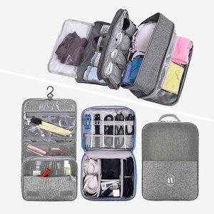 Women Men Travel Cosmetic Bag Set Cable
