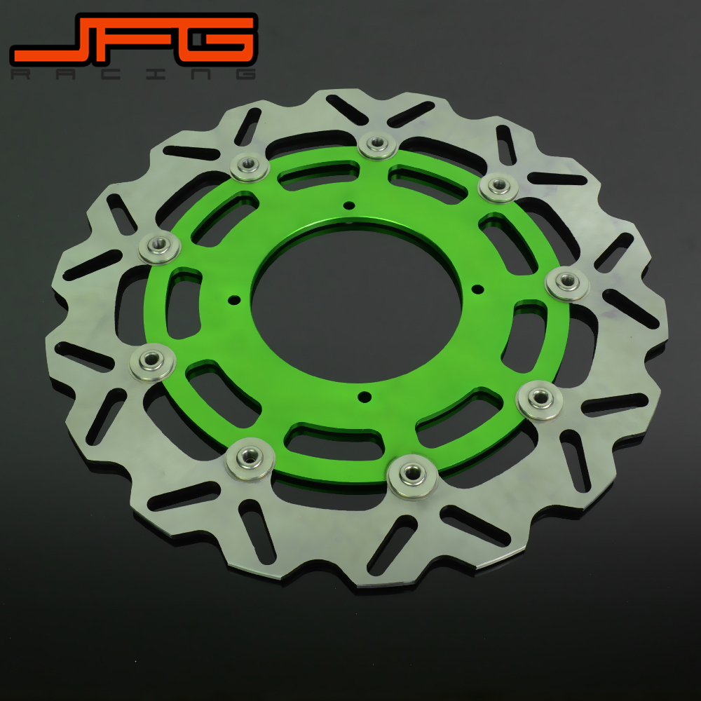Motorcycle 320MM Flaoting Brake Disc For KAWASAKI KX KXF KLX KX125 KX250 KX250F KX450F KLX450R Dirt Bike